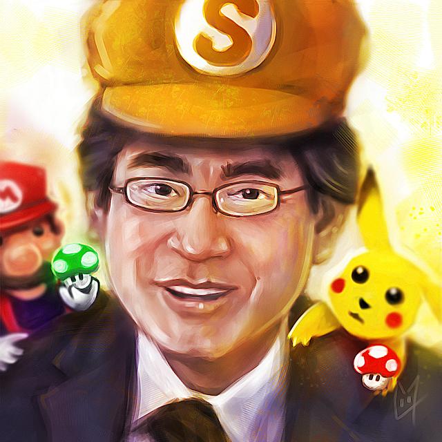 Satoru Iwata painting