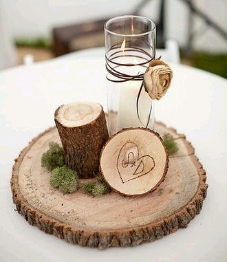 Centros de mesa de madera parte 3 - Mesas de troncos de madera ...