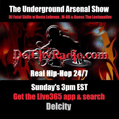 http://www.mixcloud.com/DelCityRadio/the-underground-arsenal-show-8-17-14/