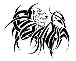 Motif Tato Singa Hitam Putih 10