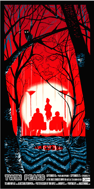 Twin Peaks Screen Print by Tim Doyle