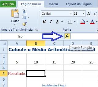Calculando a Média Aritmética no Excel