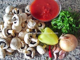 Mancare de ciuperci de post ingrediente reteta