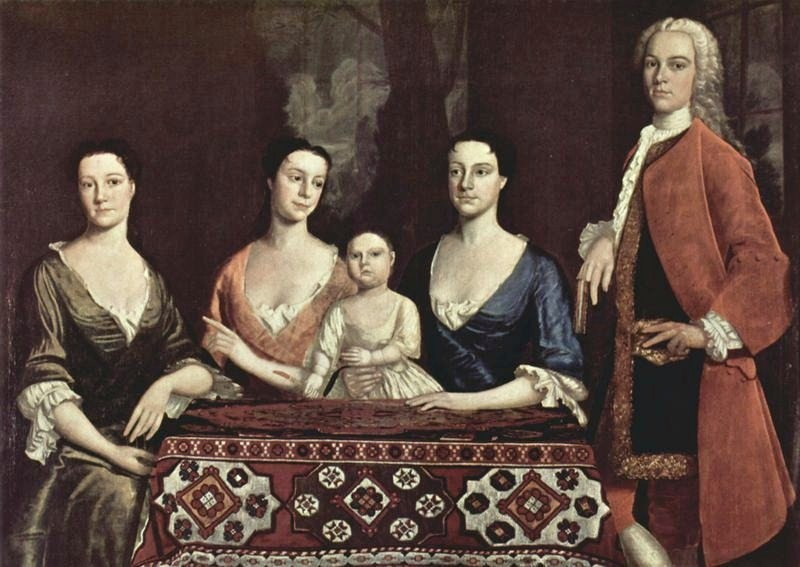 National art gallery paintings of 18th century american families 1741 robert feke american colonial era artist 1707 1751 family of isaac royall sciox Images