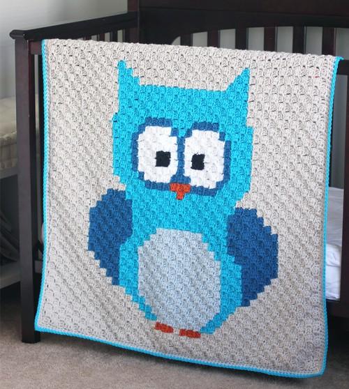 Baby Owl C2C Blanket - Free Pattern