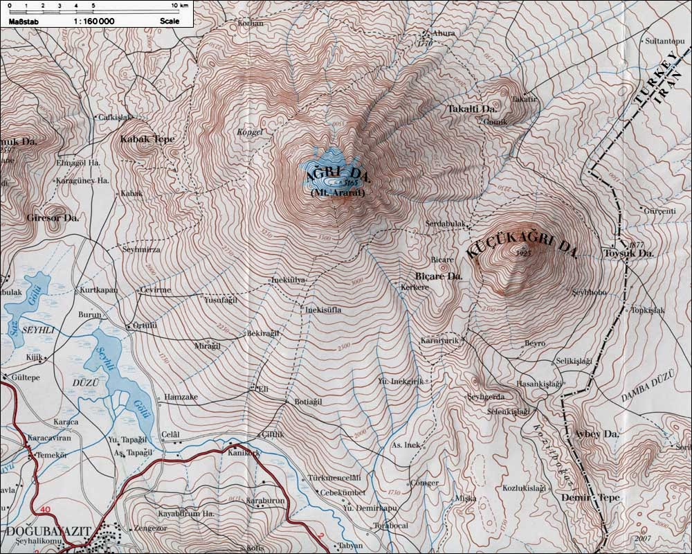 topographic map the himalayas