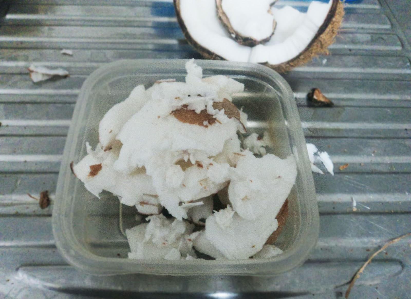 óleo de coco caseiro descascar