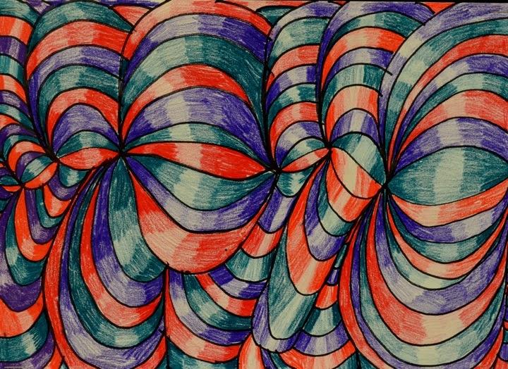 Colour Line Art Design : Expedition art cross contour line designs