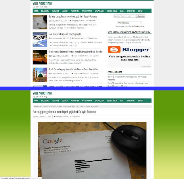 Cara membuat halaman posting menjadi full page