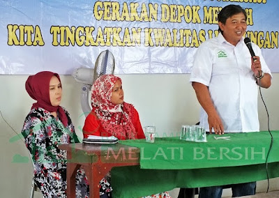 Sosialisasi program Bank Sampah Melati Bersih