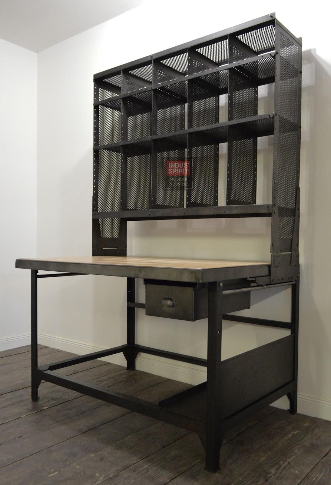 Meuble industriel d coration industrielle meuble de for Meuble de tri postal