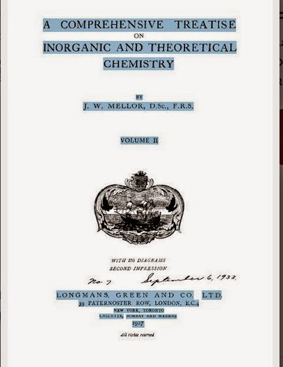 A Comprehensive Treatise Inorganic and Theoratical Chemistry Vol II by J. W. Mellor