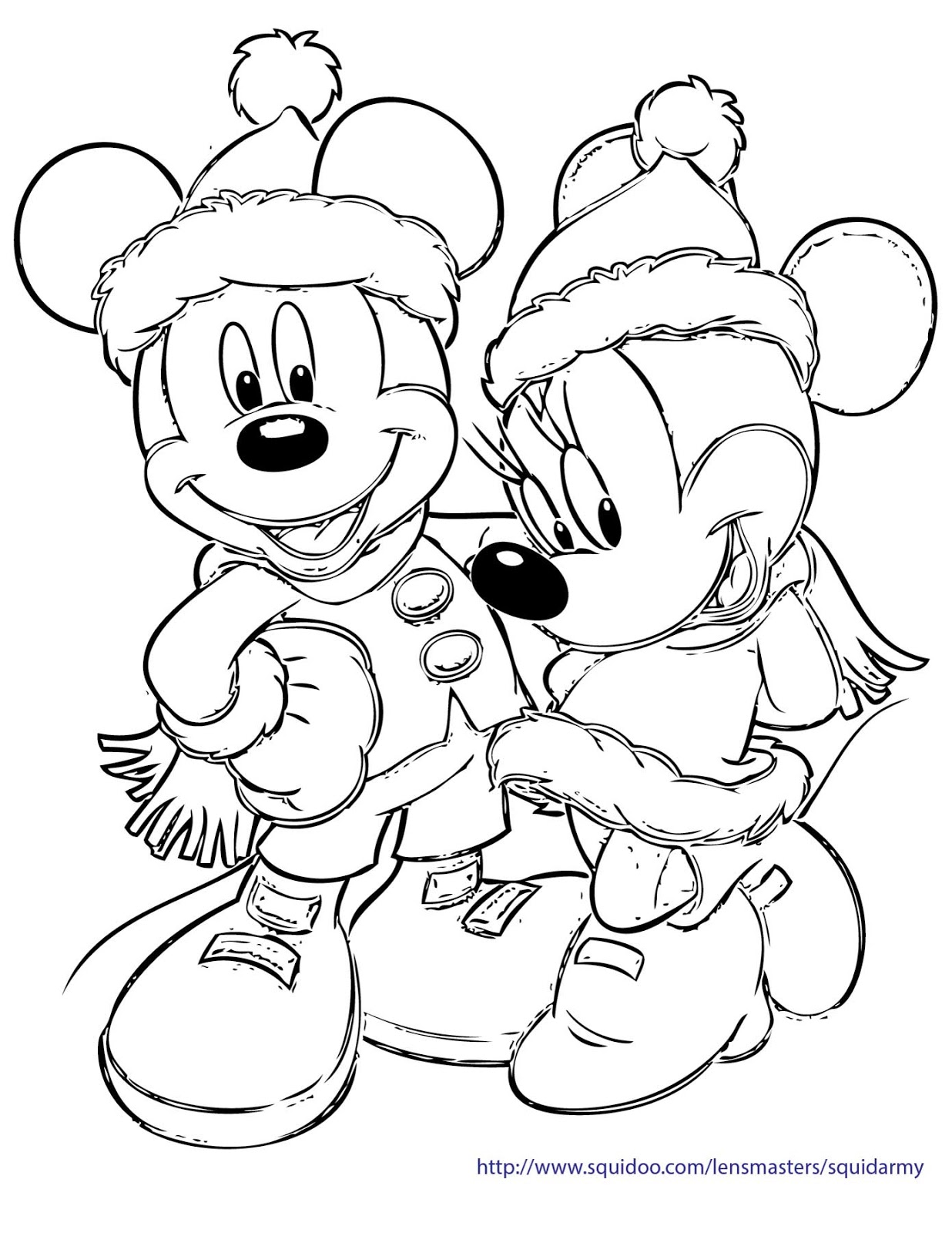 mickey christmas coloring pages