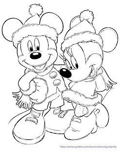Mickey and Minnie coloring pages Christmas