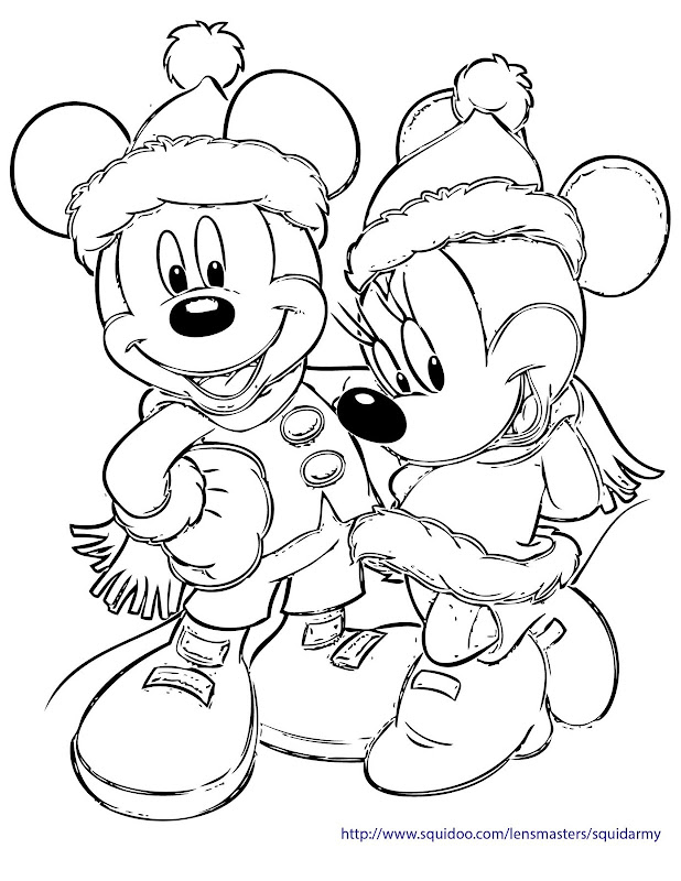 And Minnie Coloring Pages Christmas Mario Crishmast Title