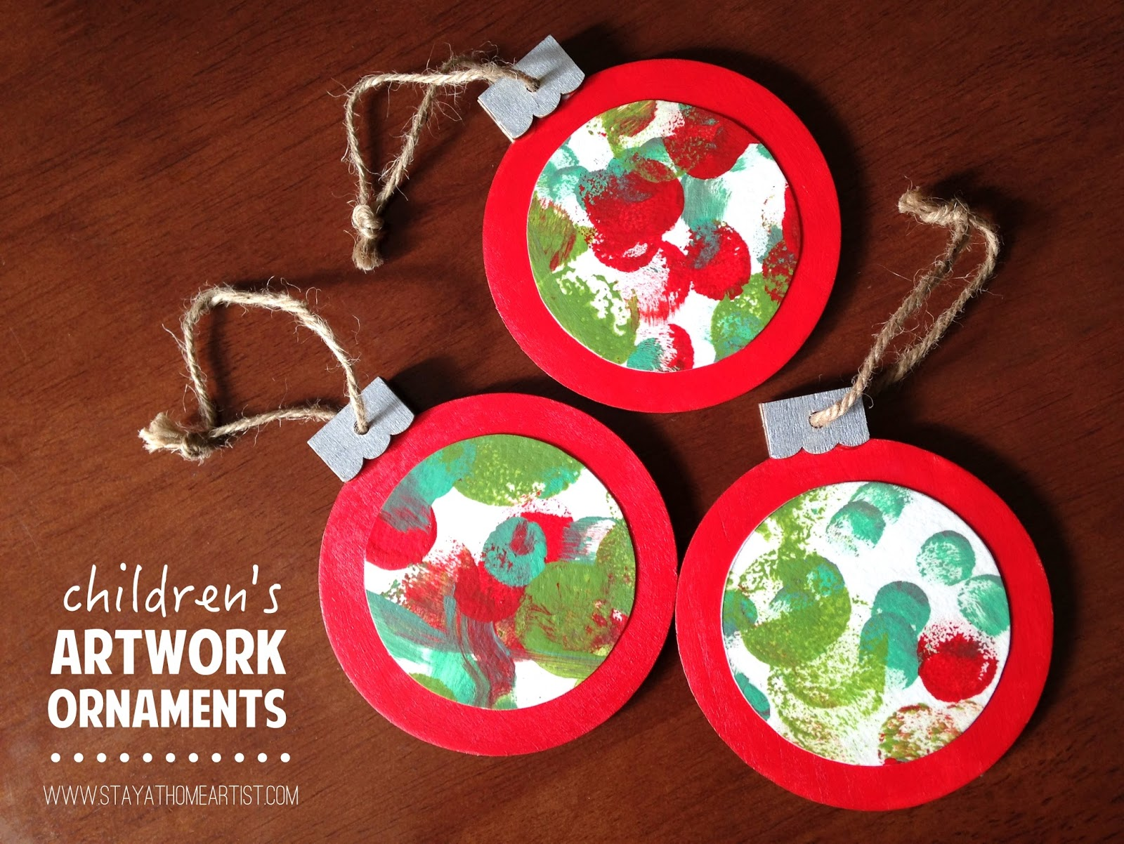 childrens artwork ornaments