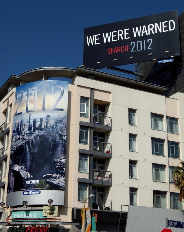 We Were Warned 2012 billboard