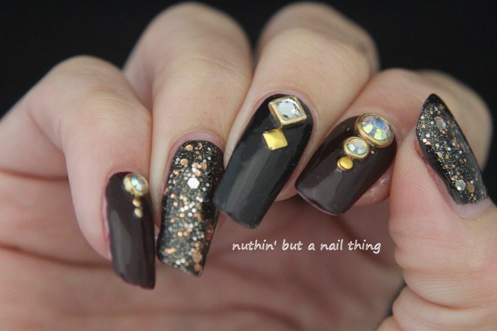 Gold Diamante Nail Art : Nuthin but a nail thing diamante art