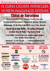 IX Cursa Interclubs<br>VII Premi Inauguració