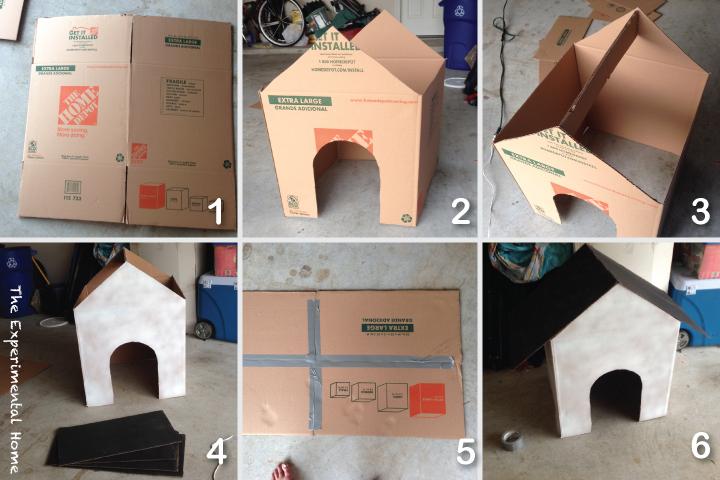 más y más manualidades: Casas de cartón para mascotas