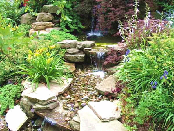 Expressive rock garden ideas for Rock landscaping ideas backyard