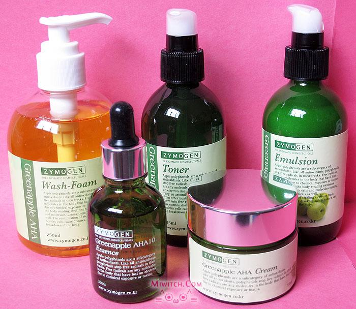 Zymogen Greenapple Aha Skin Care Series