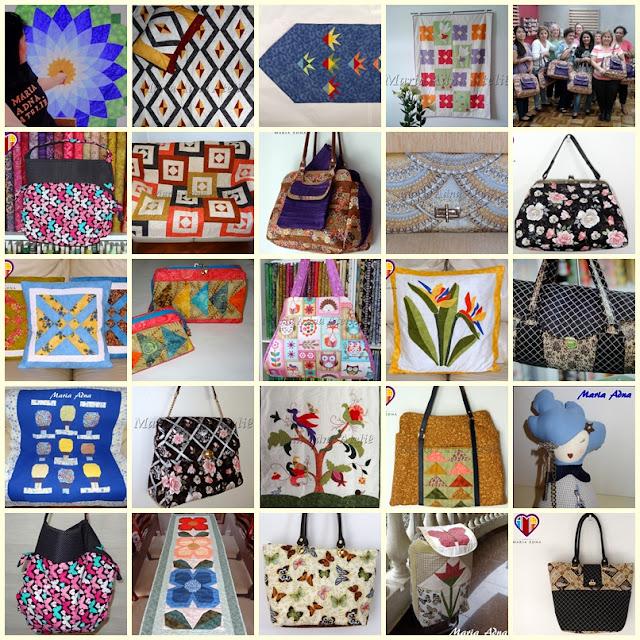 Bolsas, patchwork e bonecas