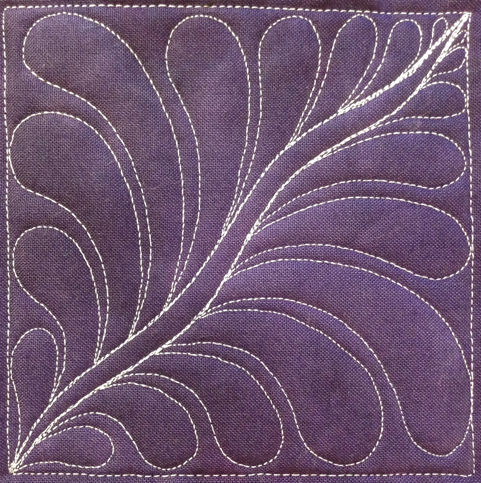 The Free Motion Quilting Project: 79. Free Motion Quilt Space Feather, #420