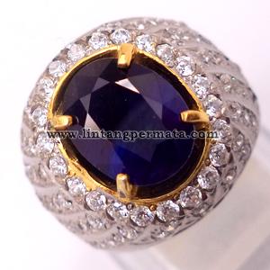 batu permata natural blue sapphire cincin batu permata blue safir