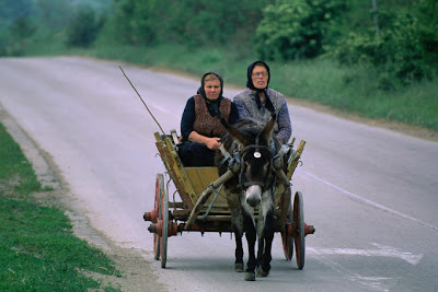 Women on donkey Bulgeria