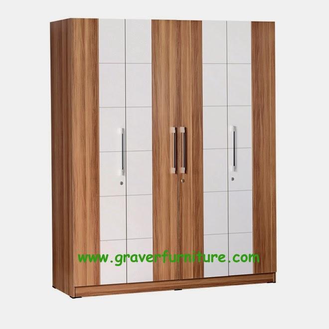 Lemari Pakaian 4 Pintu LP 2799 Graver Furniture