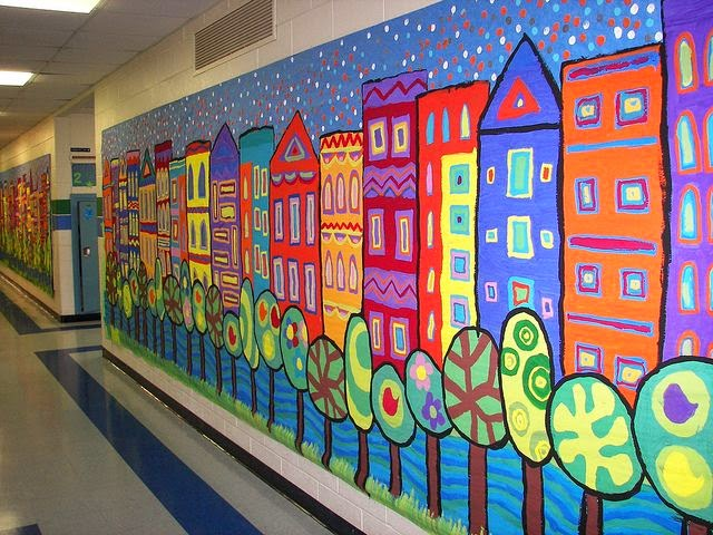 Bri coco de lolo id e pour un d cor de mur d 39 cole for Elementary school mural