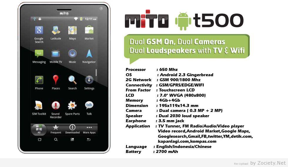harga murah juga mito tablet ini dinamai dengan mito t500