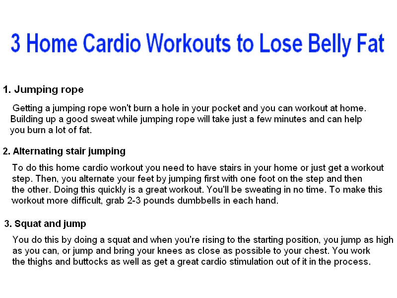3 Home Cardio Workouts to Lose Belly Fat