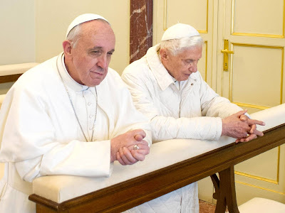 Francis and Benedict at prayer