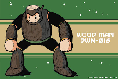Robot Master Wood Man from Mega Man 2