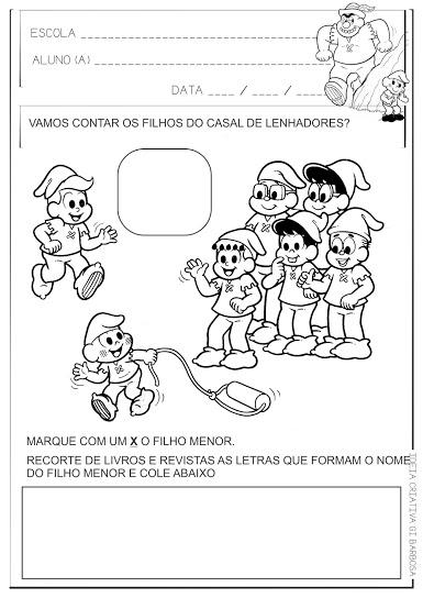 Atividade Interdisciplinar Pequeno Polegar Turma da Mônica