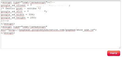 convertir código compatible con publicaciones blogger