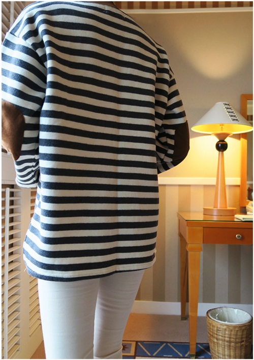 Striped Tee with Elbow Patches