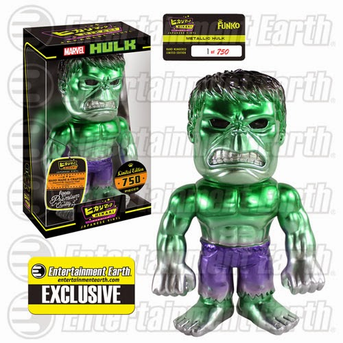 "Entertainment Earth Exclusive ""Metallic"" Hulk Premium Marvel Hikari Sofubi Vinyl Figure by Funko"