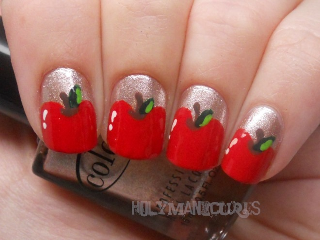 Holy Manicures Red Apple Nails