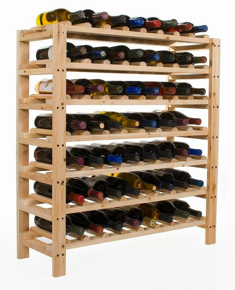 The above pictured wine rack is really quite ideal, except for the fact  that I never at any given moment have that much wine; I suppose I drink it  much ...