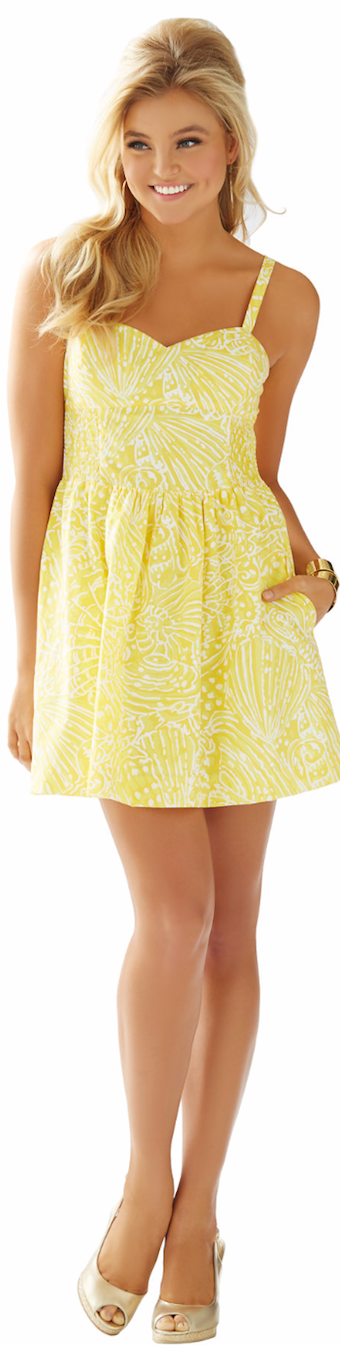 LILLY PULITZER CHRISTINE SUNDRESS SUNGLOW YELLOW