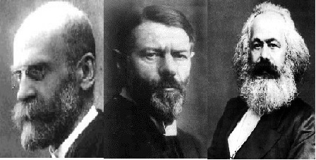 durkheim and weber on the origins Account of what is similar and different in how marx and weber approach the  theme  weber, contextualizes the origins of modern capitalism, delineating the.