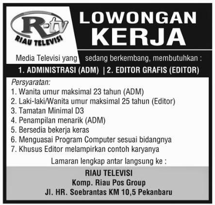 Contoh Lowongan Kerja Editor