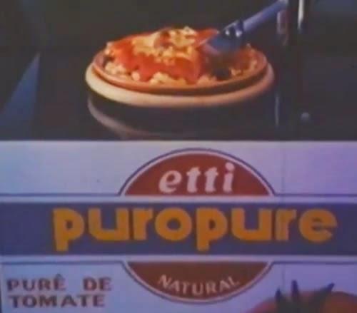 Propaganda do Puro Purê da Etti, em 1985: campanha premiada e reconhecida internacionalmente.
