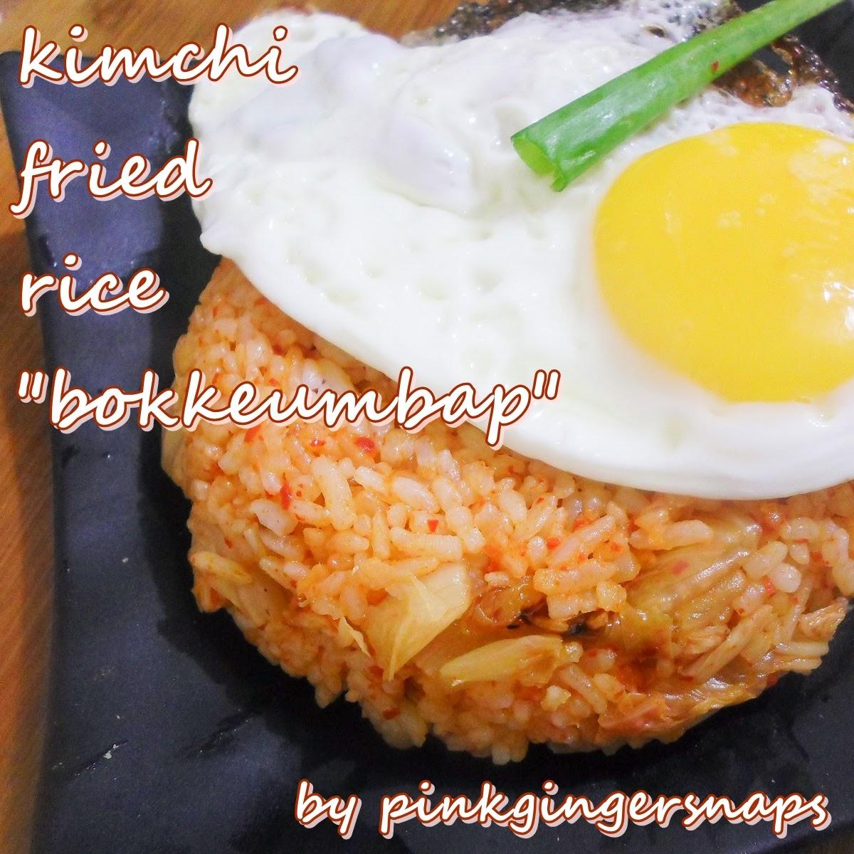 kimchi fried rice pinkgingersnaps