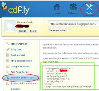 kode iklan cpm adfly