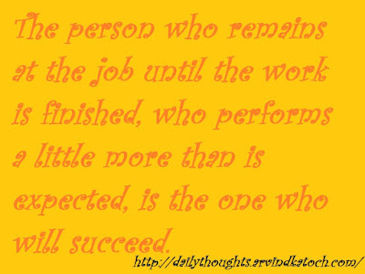 succeed, finish, job, thought, thought of day, quote,