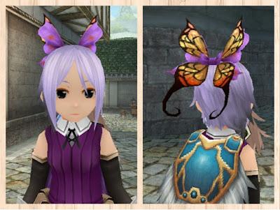 蝶の髪飾り 紫1